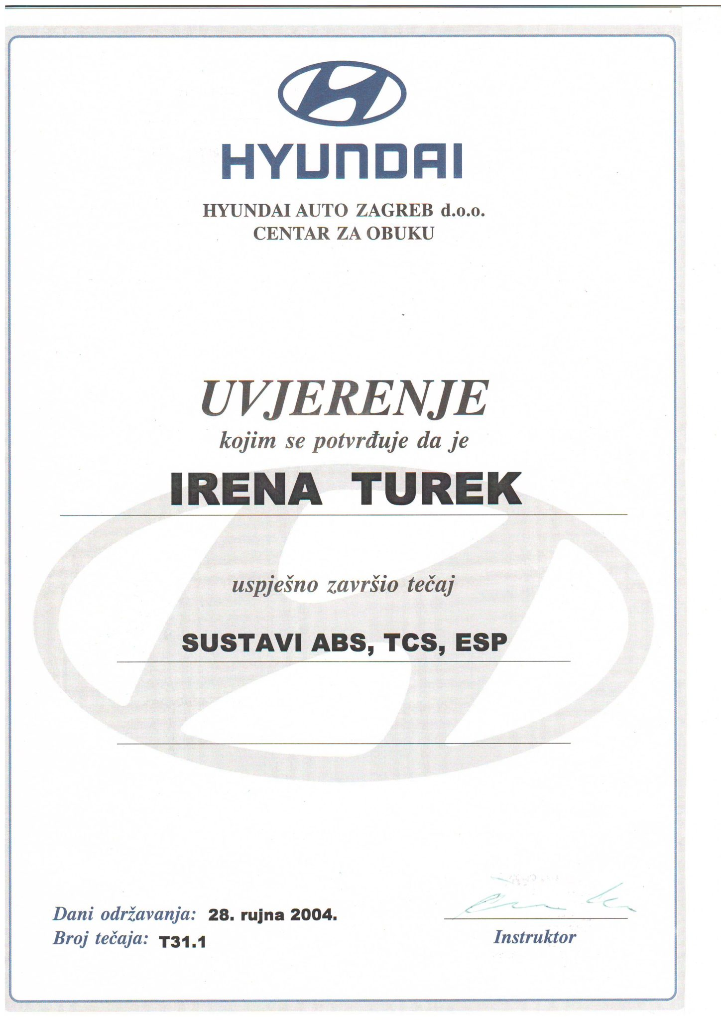 Picture of Hyundai - Sustavi ABS, TCS, ESP