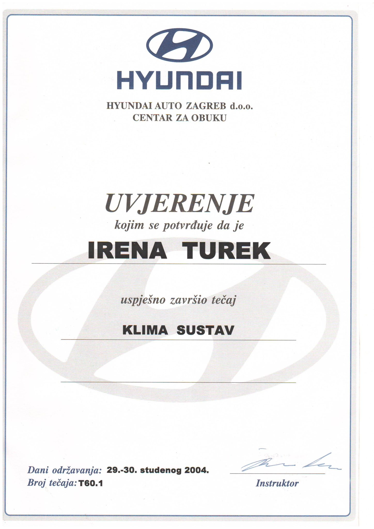 Picture of Hyundai - Klima sustav