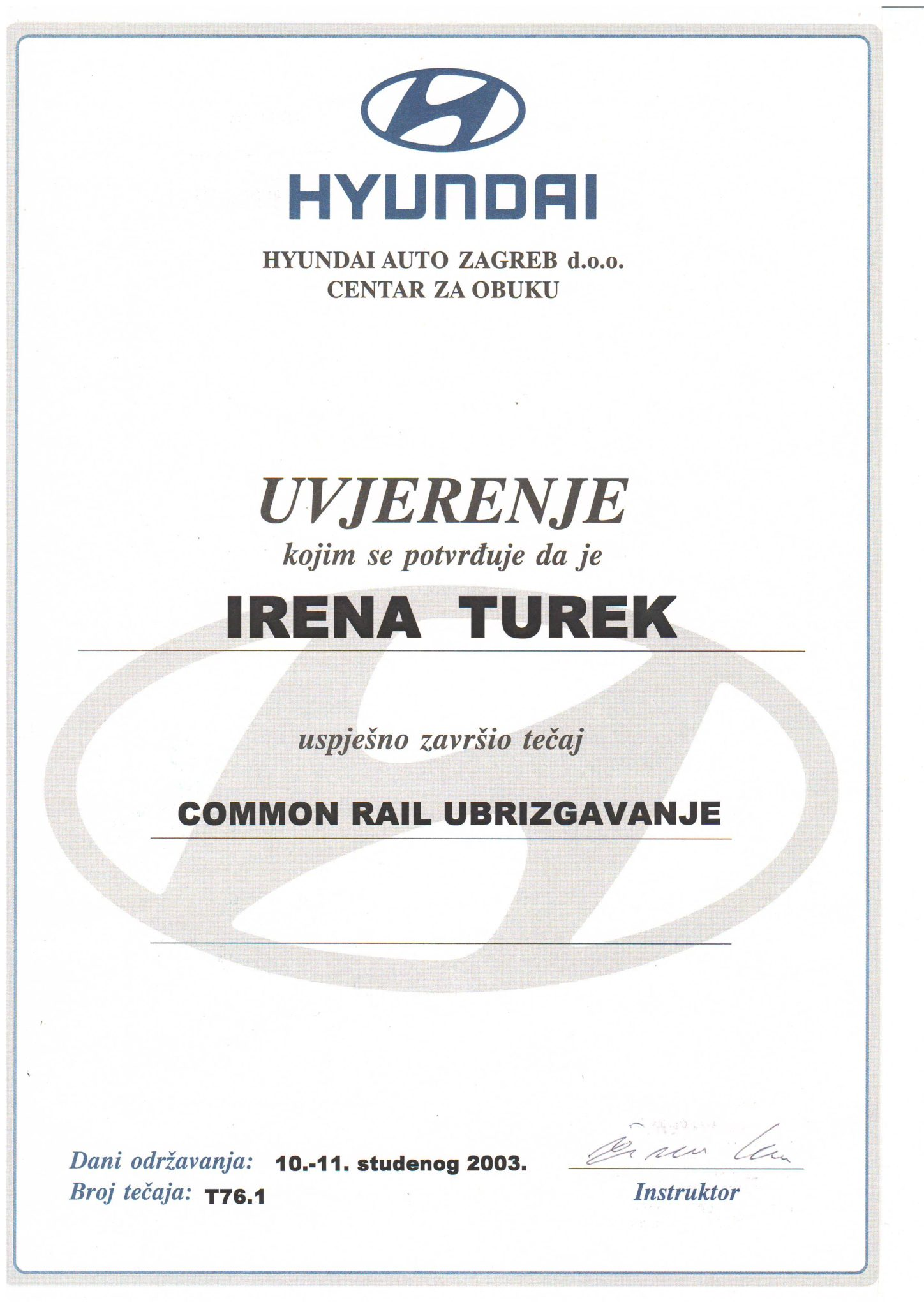 Picture of Hyundai - Common rail ubrizgavanje